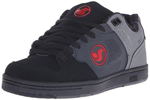 DVS Shoes - Discord, Scarpe da skateboard da uomo, Grigio (De Gry/Blk/Red Nubuck Deegan), 40