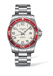 Longines Hydro Conquest Men's Automatic Watch with White Dial Analogue Display and Silver Stainless Steel Bracelet L36954196
