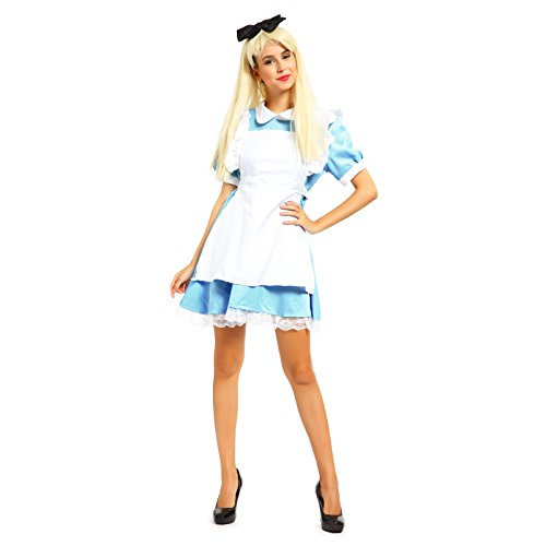 Alice in Wonderland Anime Cosplay Costume Lolita Dress Fancy Dress Maid Outfit