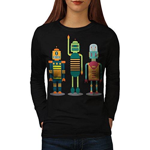 karikatur-roboter-party-kind-spass-damen-neu-schwarz-xxl-langarm-t-shirt-wellcoda