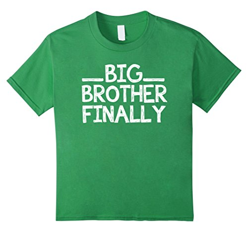 Kids Big Brother Finally Funny T-Shirt 8 Grass (Future Big Brother compare prices)