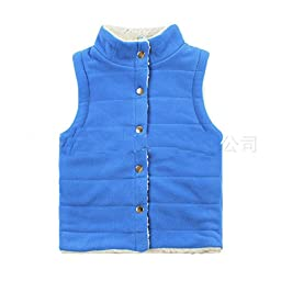 Bnspl Unisex kids\' Button Sleeveless Collar Vest