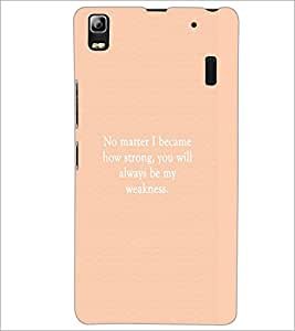 PrintDhaba Quote D-4448 Back Case Cover for LENOVO K3 NOTE (Multi-Coloured)