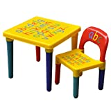 Kids Children Furniture Table and Chair Set Alphabet Design Bedroom Play Room