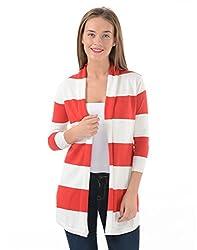 US Polo Women's Cotton Sweatshirt (UWFL0048_True Red_M)