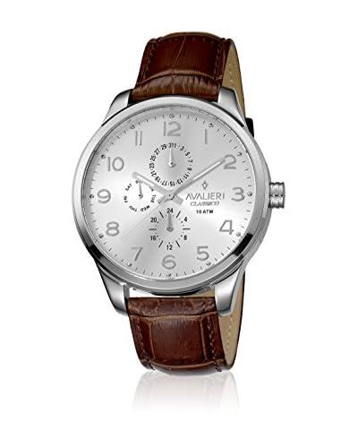 AVALIERI Reloj de cuarzo  Marrón / Plateado 44 mm