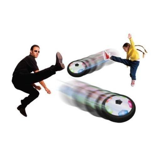 Light-Up Gliding Soccer Ball - Air Power Soccer Disk With Led Lights