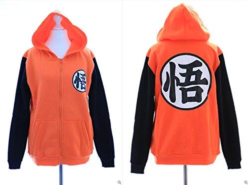 ta-13-1GO Dragon Ball Son Goku Cosplay Felpa con cappuccio arancione Pullover Hoodie