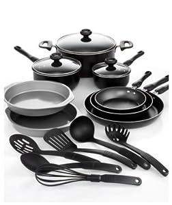 Farberware 17-Piece Cookware Set; Includes Prestige Kitchen Tools by Farberware