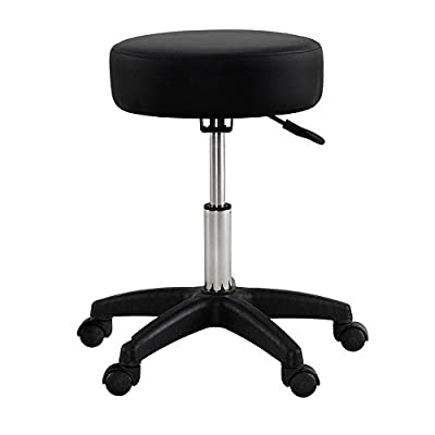 PARTYSAVING Extra Large Adjustable Hydraulic Swivel Salon Stool Chair for Massage Spa Tattoo Beauty Seat APL1159, Black