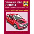 Haynes Workshop Manual vauxhall Corsa 00-03