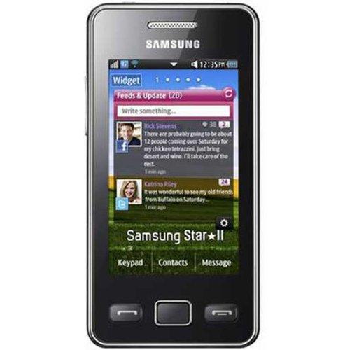 Samsung - S5260 Star II Black WiFi Unlocked GSM QuadBand Cell Phone