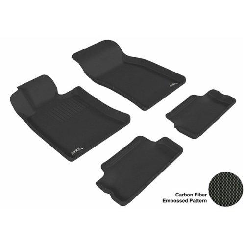 3D Maxpider Complete Set Custom Fit All-Weather Floor Mat For Select Mini Cooper/Cooper-S Models - Kagu Rubber (Black)