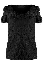 G2 Chic Women's Elastic Ruched Long Hem Short Sleeve Cotton Top