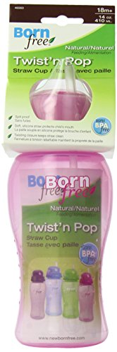 Born Free BPA-Free 14 oz. Twist'n Pop Straw Cup, Pink