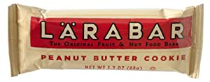 LARABAR Fruit & Nut Food Bar, Peanut Butter Cookie, Gluten Free 1.7oz Bars (Pack of 16)