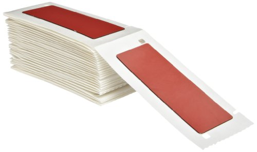 "Brady M71Ep-176-593-Rd 3"" Width X 1"" Height Red Color B-593 Adhesive-Taped Polyester Raised Panel Labels With Gloss Finish For Bmp71 Printers (50 Per Box)"