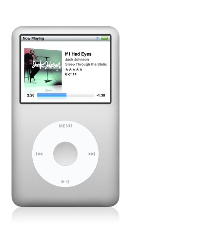 Apple iPod classic 120 GB Silver (6th Generation) [Previous Model]