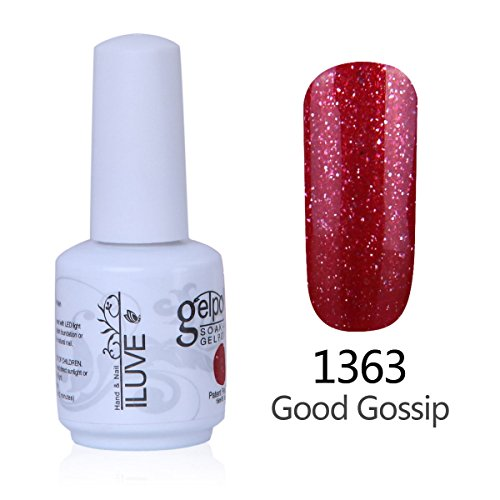 iLuve Long Lasting Soak Off Nail Polish with 238 Color Choices | 1 bottle with 15ml of UV Gel Polish | Good Gossip Color #1363