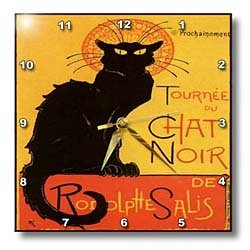 Cats Le Chat Noir - 10x10 Wall Clock