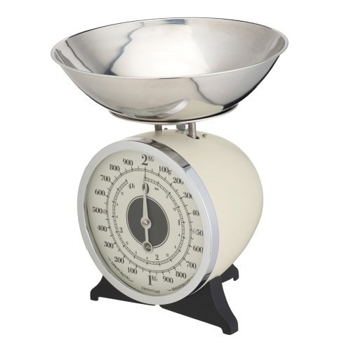 Kitchen Craft Classic Collection Balance de cuisine mécanique Émail Crème 2 kg