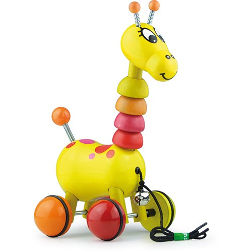 Vilac Push and Pull Baby Toy, Paf The Giraffe