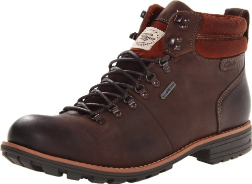 Clarks Men's Midford ALP Boot,Brown Leather,7 M US