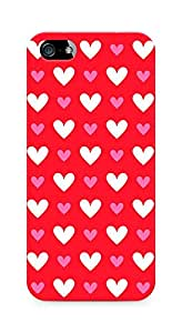 Amez designer printed 3d premium high quality back case cover for Apple iPhone 5 (Heart Pattern10)