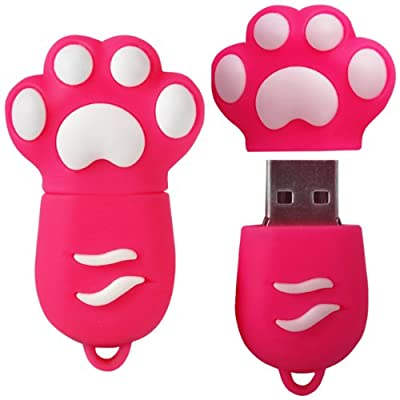 8 GB Novelty XYLO-FLASH Cute Paw Print Keyring USB 2.0 Memory Stick / Pen Storage Drive Compatible With PC / Mac. by XYLO ACCESSORIES