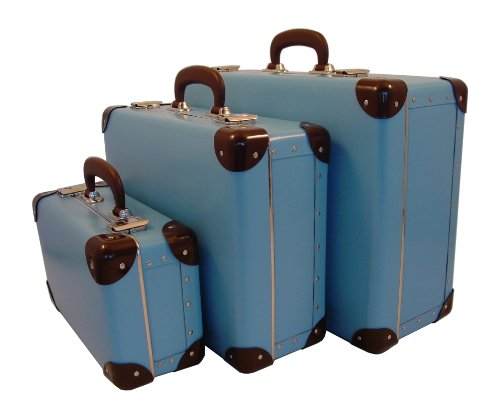 Cargo Cool Traveler Suitcases, Set of 3, Soft Blue