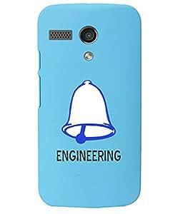 KolorEdge Back Cover For Motorola Moto G - Sky Blue (1016-Ke15135MotoGSBlue3D)