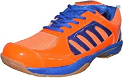Port Mens PVC Badminton Shoes(Size 10 Ind/Uk)