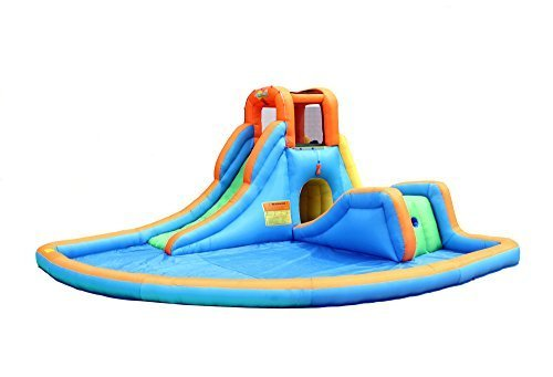 Bounceland Inflatable Cascade Water Slide with Pool (Slide Pool compare prices)