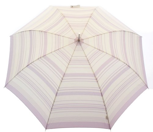 French Riviera Striped Umbrella (Lilac and Ivory)