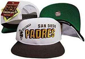 San Diego Padres Two Tone Plastic Snapback Adjustable Plastic Snap Back Hat Cap by American Needle