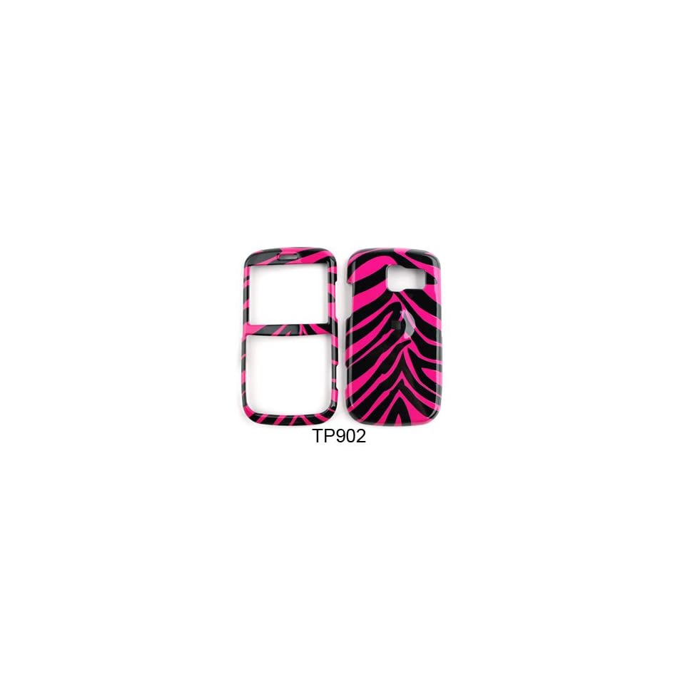 Pantech Link Pink Zebra Skin Hard Case/Cover/Faceplate/Snap On/Housing/Protector