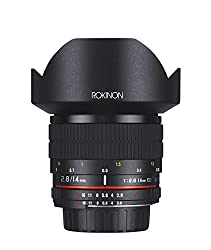Rokinon FE14MAF-N 14mm f/2.8 IF ED UMC Ultra Wide Angle Fixed Lens with Built-in AE Chip for Nikon (Black)