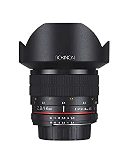 Rokinon 14mm f/2.8 IF ED UMC Ultra Wide Angle Fixed Lens w/ Built-in AE Chip for Nikon