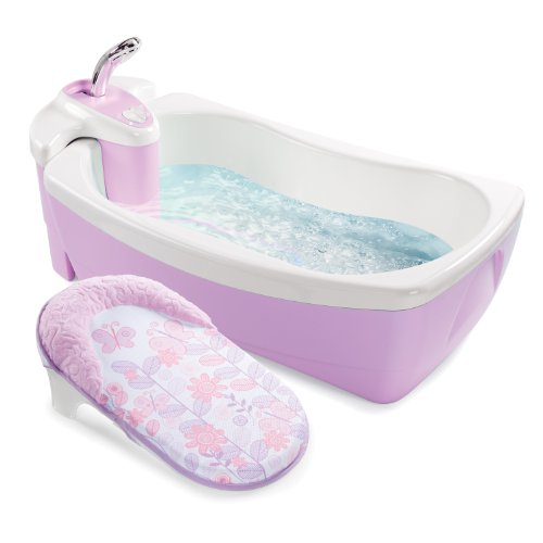 Summer Infant Lil' Luxuries Whirlpool Bubbling Spa and Shower Tub, Violet