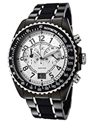 Women's Chronograph Silver Dial Two Toneand Black Rubber