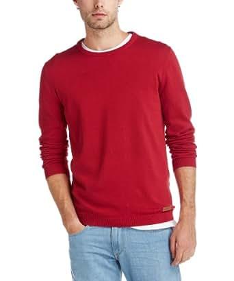 ESPRIT Herren Pullover 083EE2I017, Gr. 48 (M), Rot (604 crimson red)