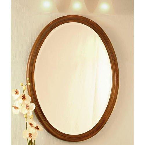 """Wellington Cherry Oak Oval Mirror - 25"""" W X 33"""" H front-1021948"""