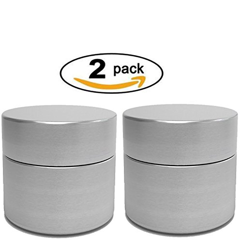 Herb Stash Jar | 2 Solid Aluminum Airtight Smell Proof Containers #1 Best WayTo Preserve Herbs Tobacco & Spices (Lock And Seal Glass Containers compare prices)