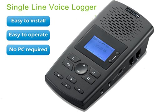 HPPFOTRS SD Digital Phone Recorder w/ Phone Call Data Software: Digital desktop recorder records phone calls and stores voice and call data to a SD card(With 8G SD card) (Digital Telephone Recorder compare prices)