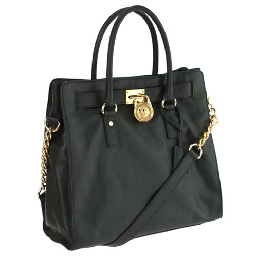 Michael Michael Kors Tote Large Hamilton Gold Hardware Hunter Green