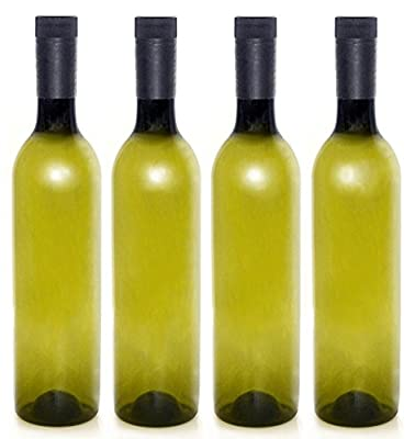 Plastic Wine Bottles & Screw Caps, 750ml - Pack of 4