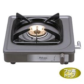 【クリックで詳細表示】Paloma(パロマ) 【乾電池を使用しないシンプル構造】1口コンロ 都市ガス用 PA-E18F 12A13A: ホーム&キッチン