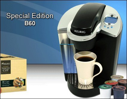 Keurig B60 K Cup Brewer w/ 60 FREE K Cups