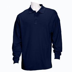 5.11 Tactical #72049 Performance Long Sleeve Polo Shirt (Black, 3X-Large)