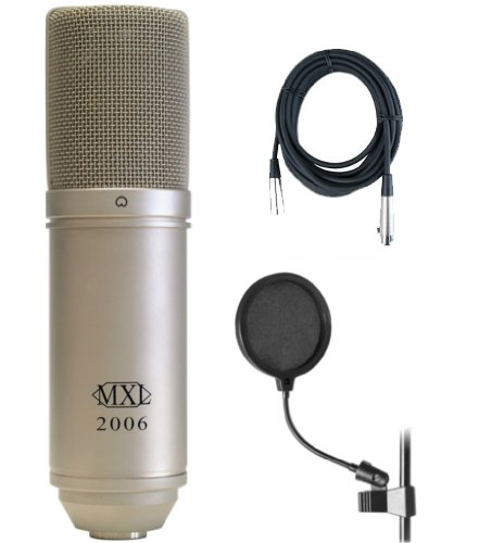 2006 Large Diaphragm Class A Fet Circuitry Condenser Mic Bundle W/Pop Filter And Mic Cable